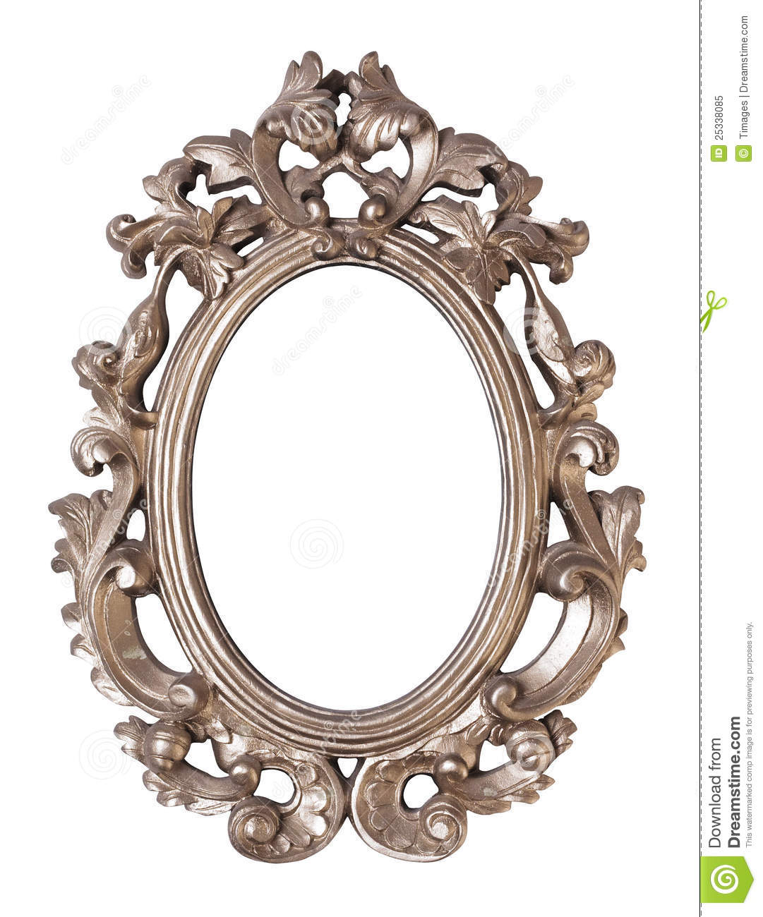 Ornate oval picture frame stock image. Image of baroque - 25338085