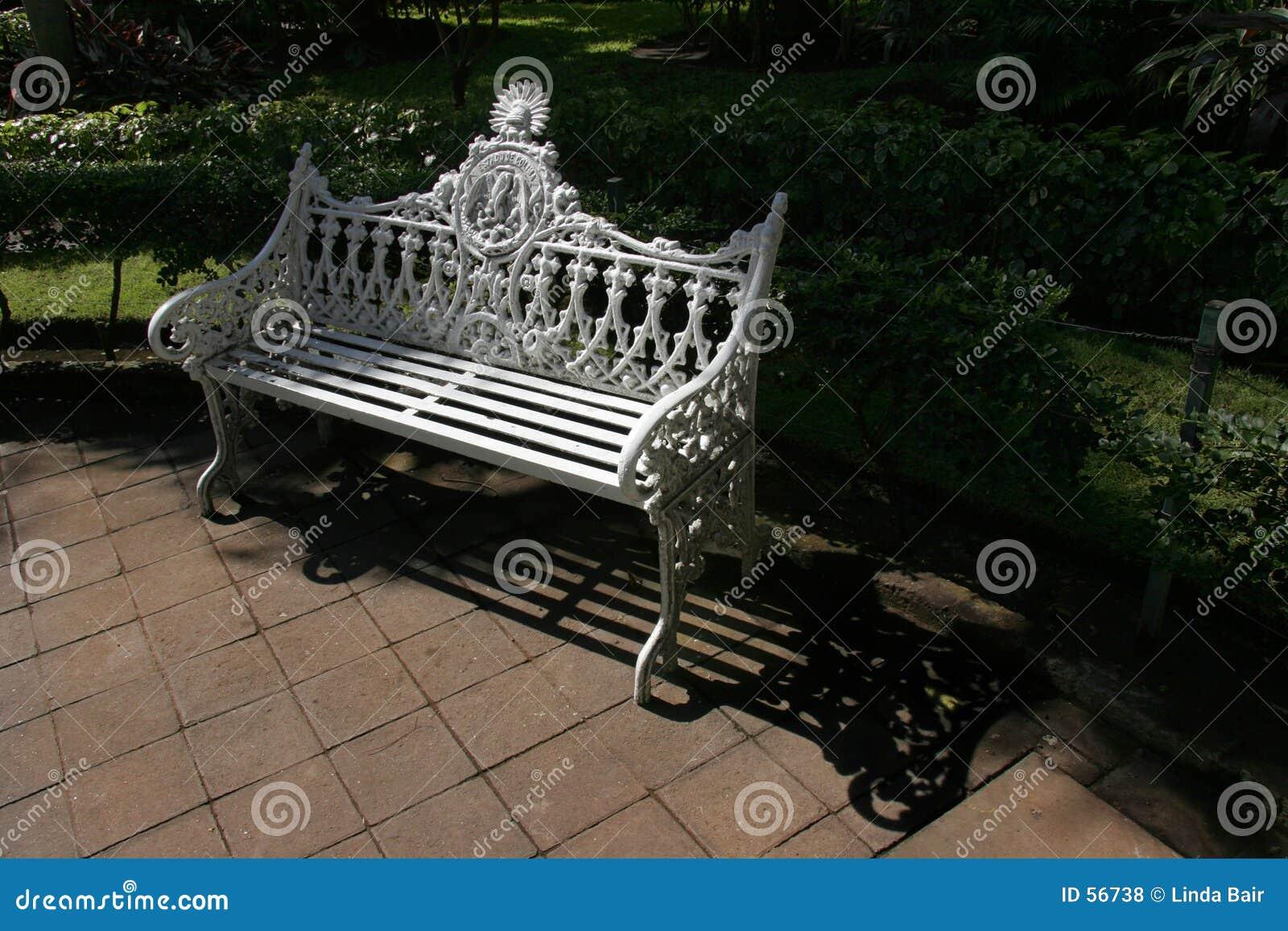 Ornate Park Bench Royalty Free Stock Photos Image 56738