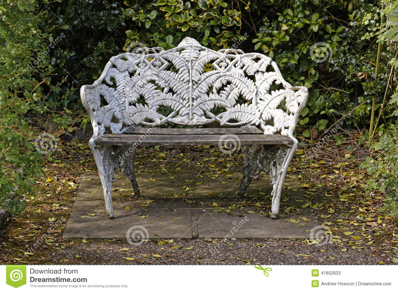 Ornate park bench stock image. Image of alone, bench ...