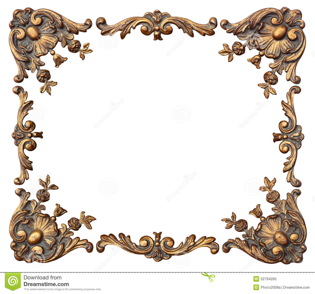 Ornate photo corners stock photo image 52794260 for Picture frame corners