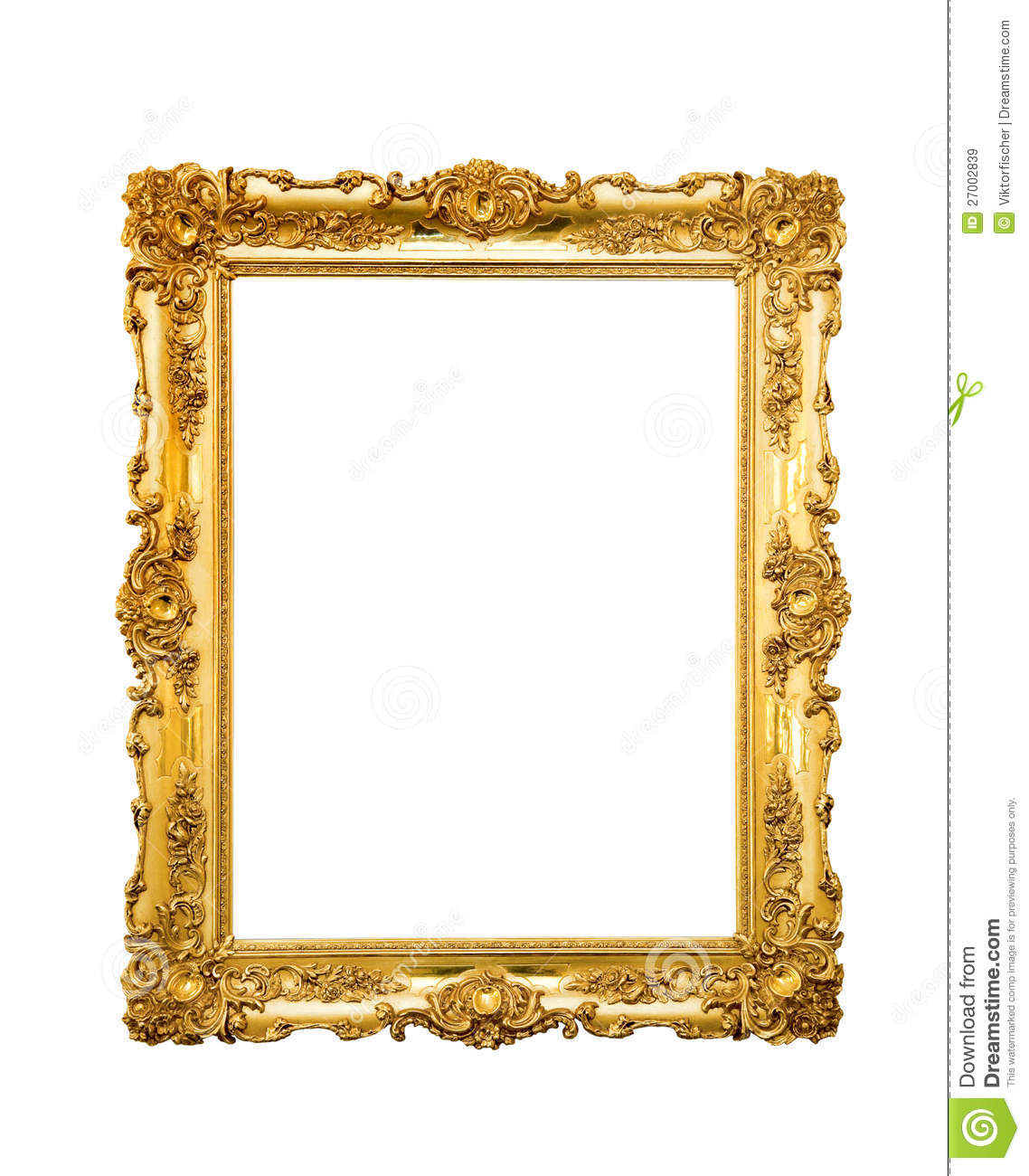 Ornate Picture Frame Stock Image Image Of Background