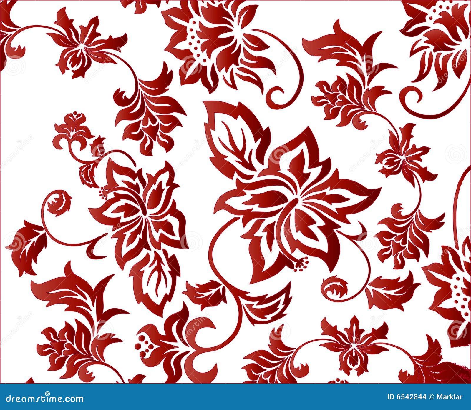 Ornate Red Flower Back...