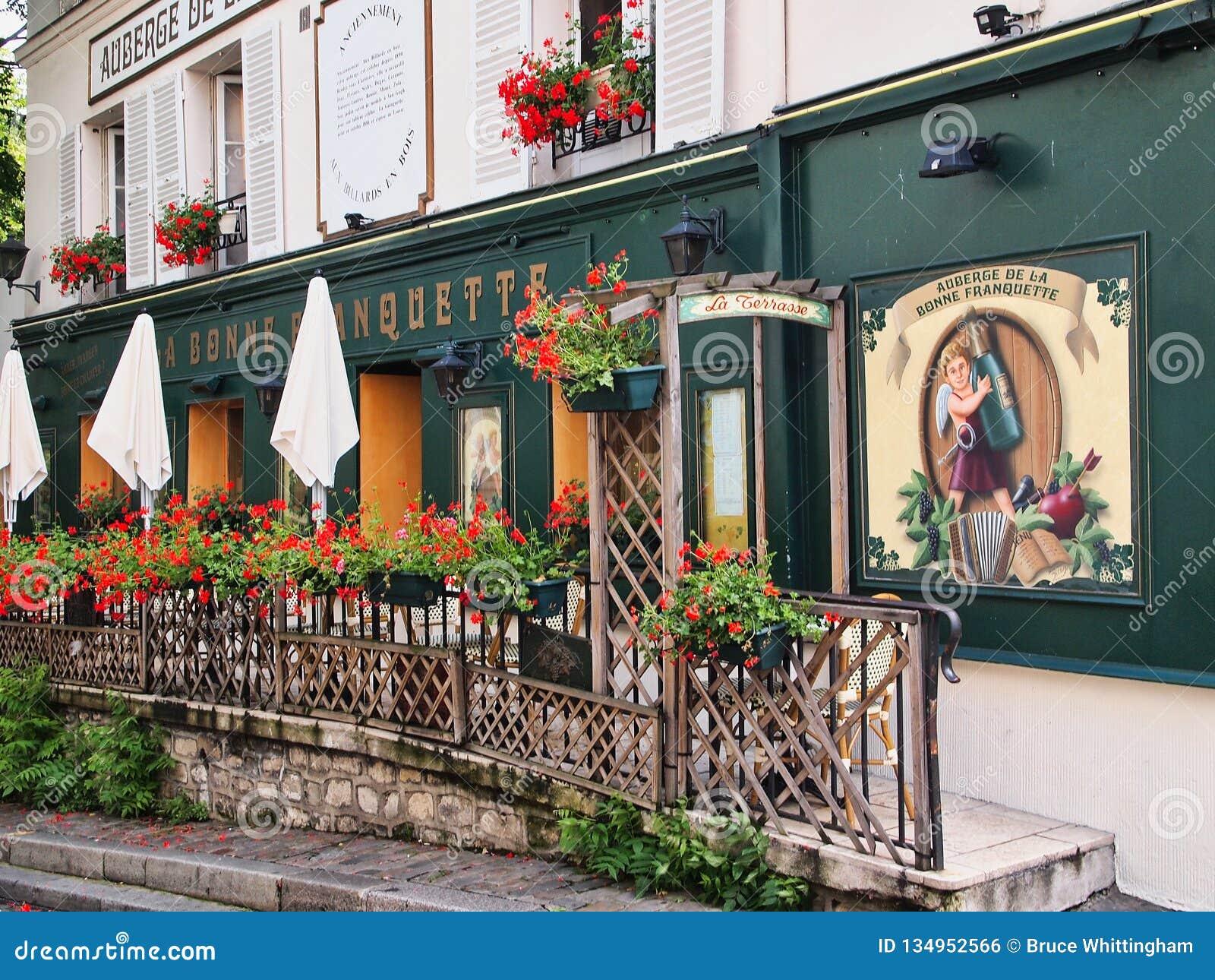 Ornate Restaurant Exterior Montmartre Paris France Editorial Photo Image Of Boxes Decorated 134952566