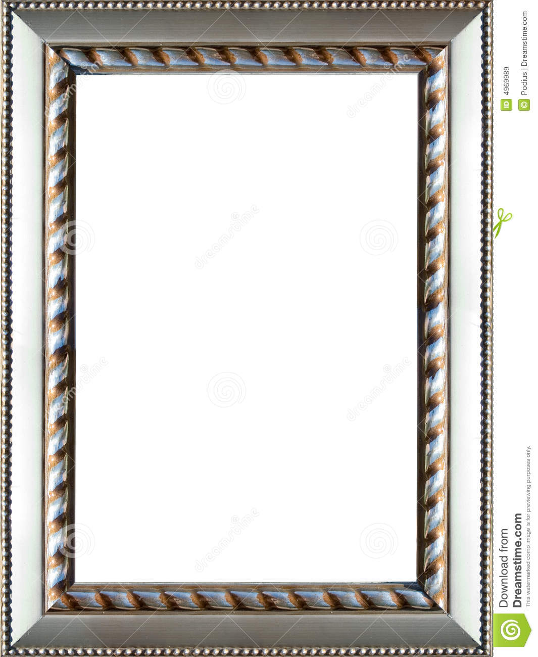 Ornate Silver Picture Frame Stock Image Image 4969989