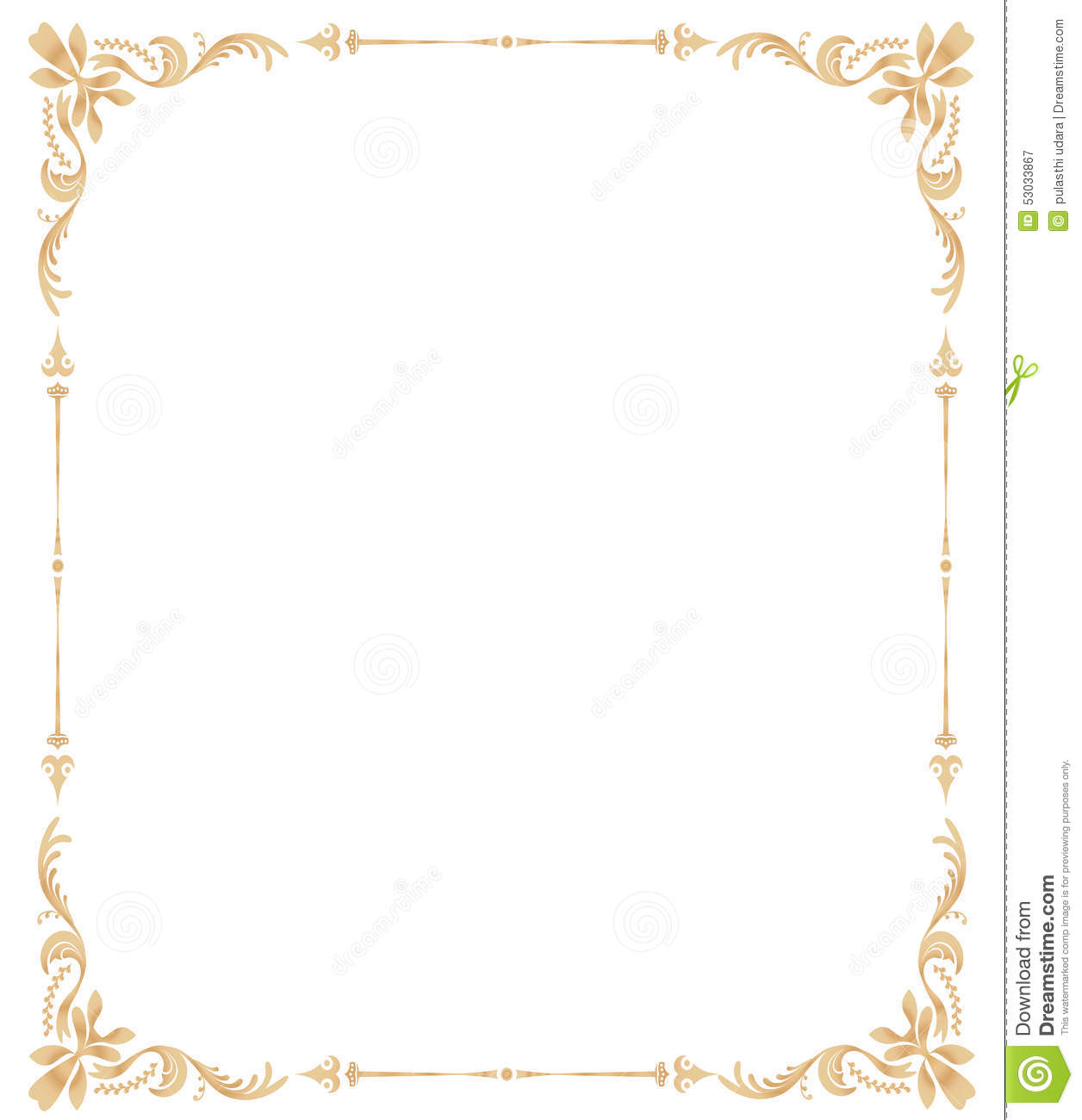 ornateswirlframe stock illustration image of clip