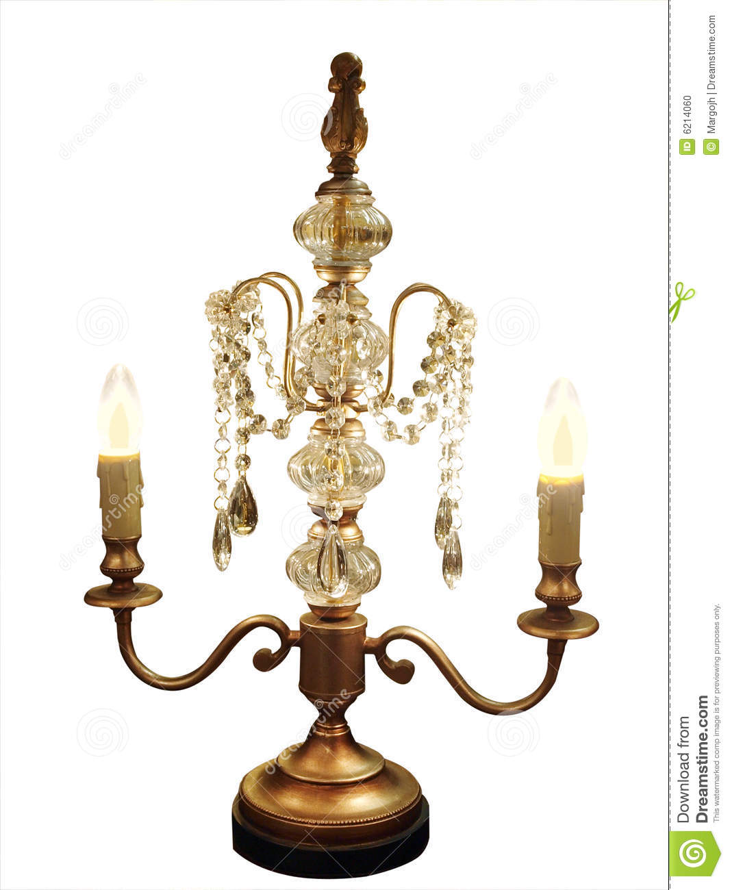 Ornate Table Lamp Chandelier Stock Photo Image 6214060