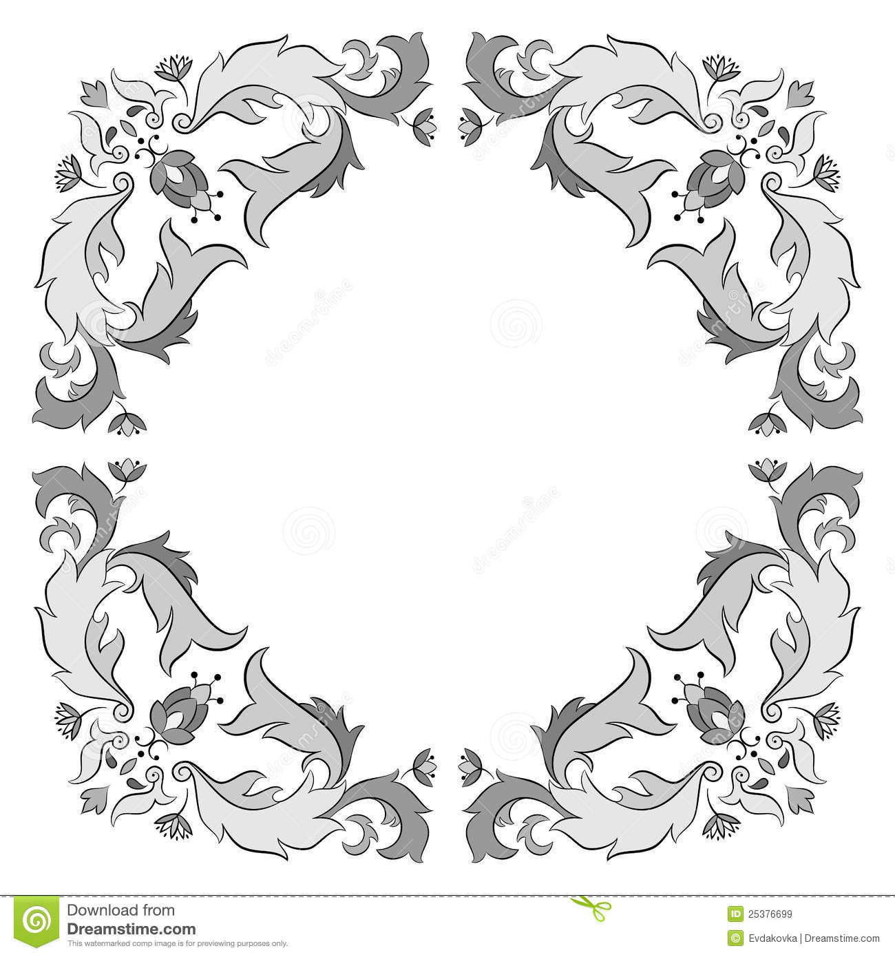 Ornate Vector Frame Royalty Free Stock Images - Image ...
