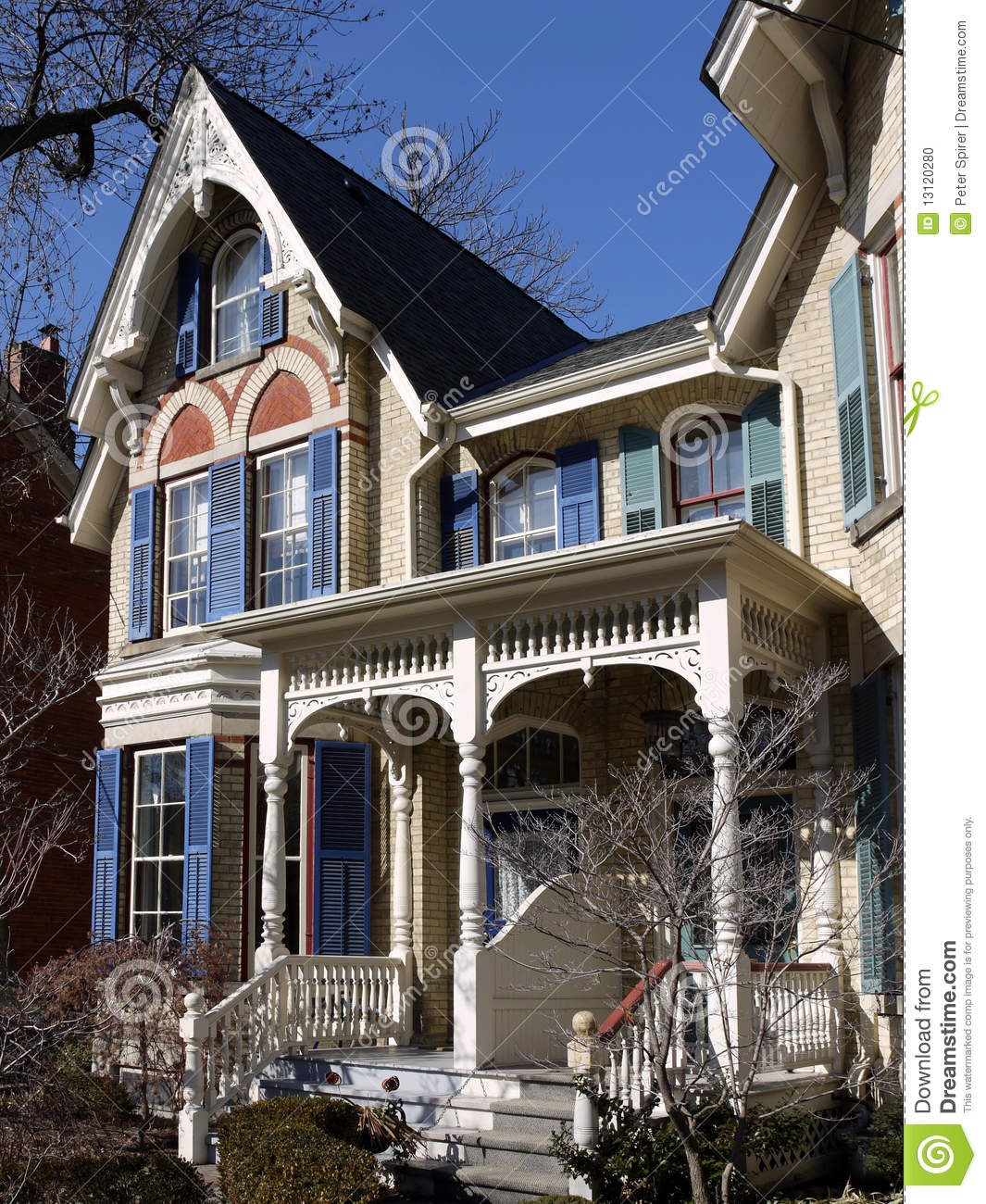 Ornate Victorian House Stock Photo Image 13120280