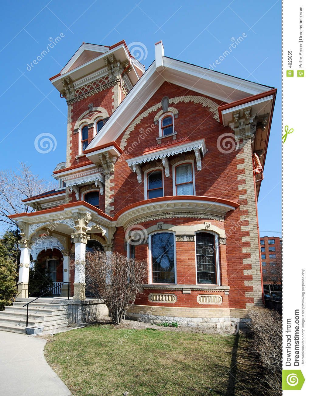 Ornate Victorian House Stock Image Image Of Tower Iron