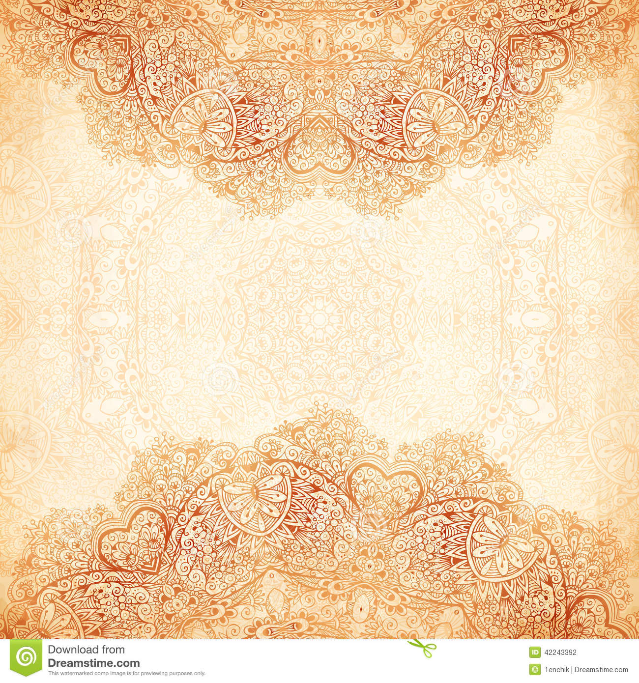 ornate vintage background in mehndi style stock vector Adult Coloring Vector Blue Vector Design