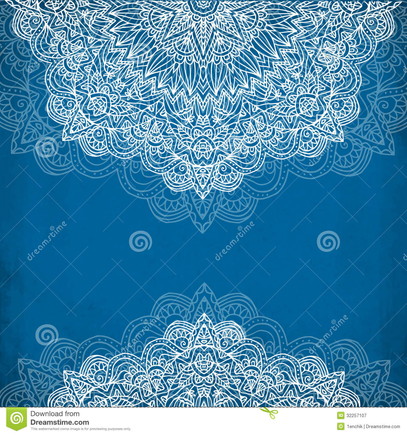 Ornate vintage vector background in mehndi style royalty free stock - Royalty Free Stock Photo Download Ornate Vintage Blue Vector Background