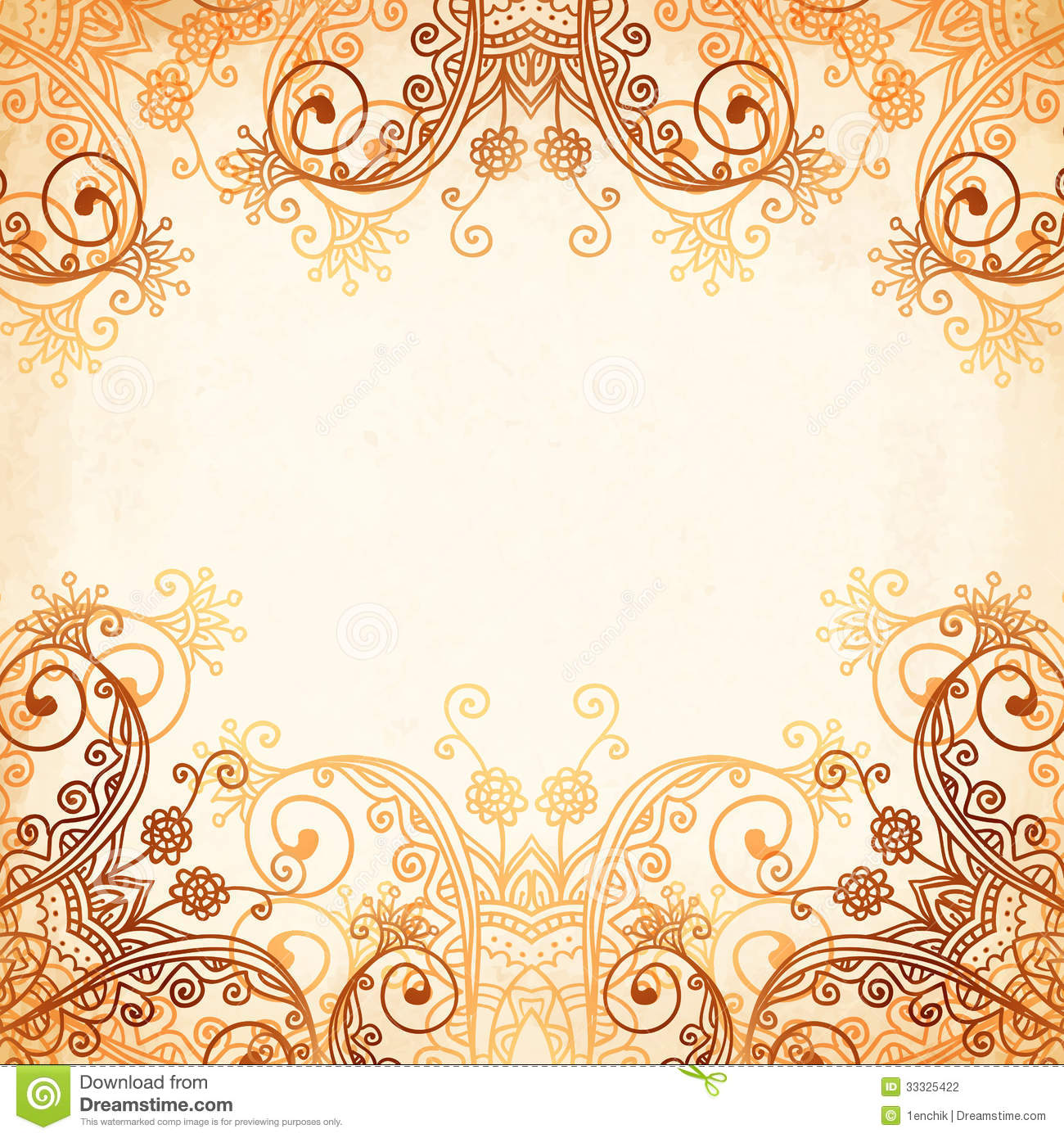 Mehndi Circle Vector : Ornate vintage circle pattern in mehndi style stock vector