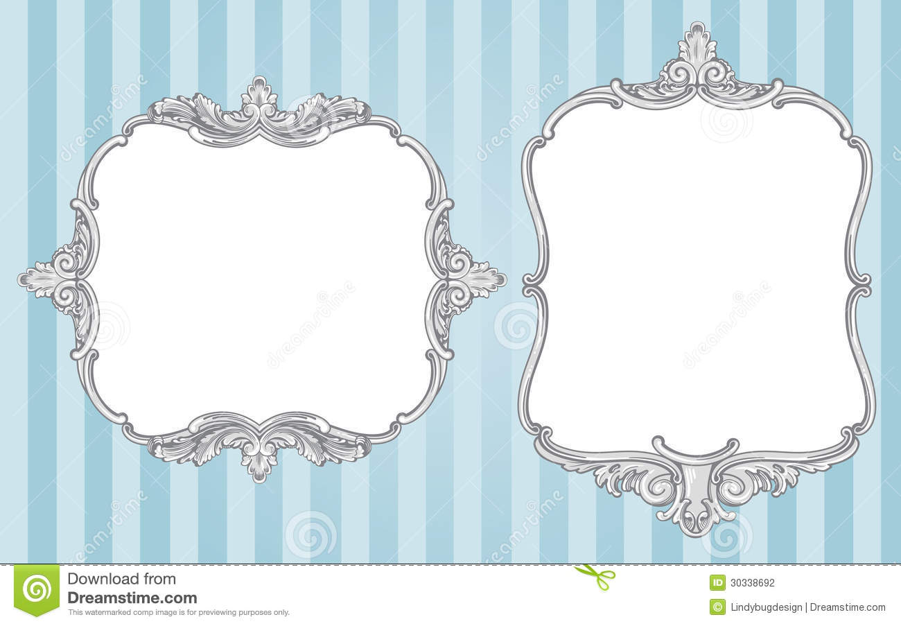 Ornate vintage frames stock vector image of design card for How to make vintage frames