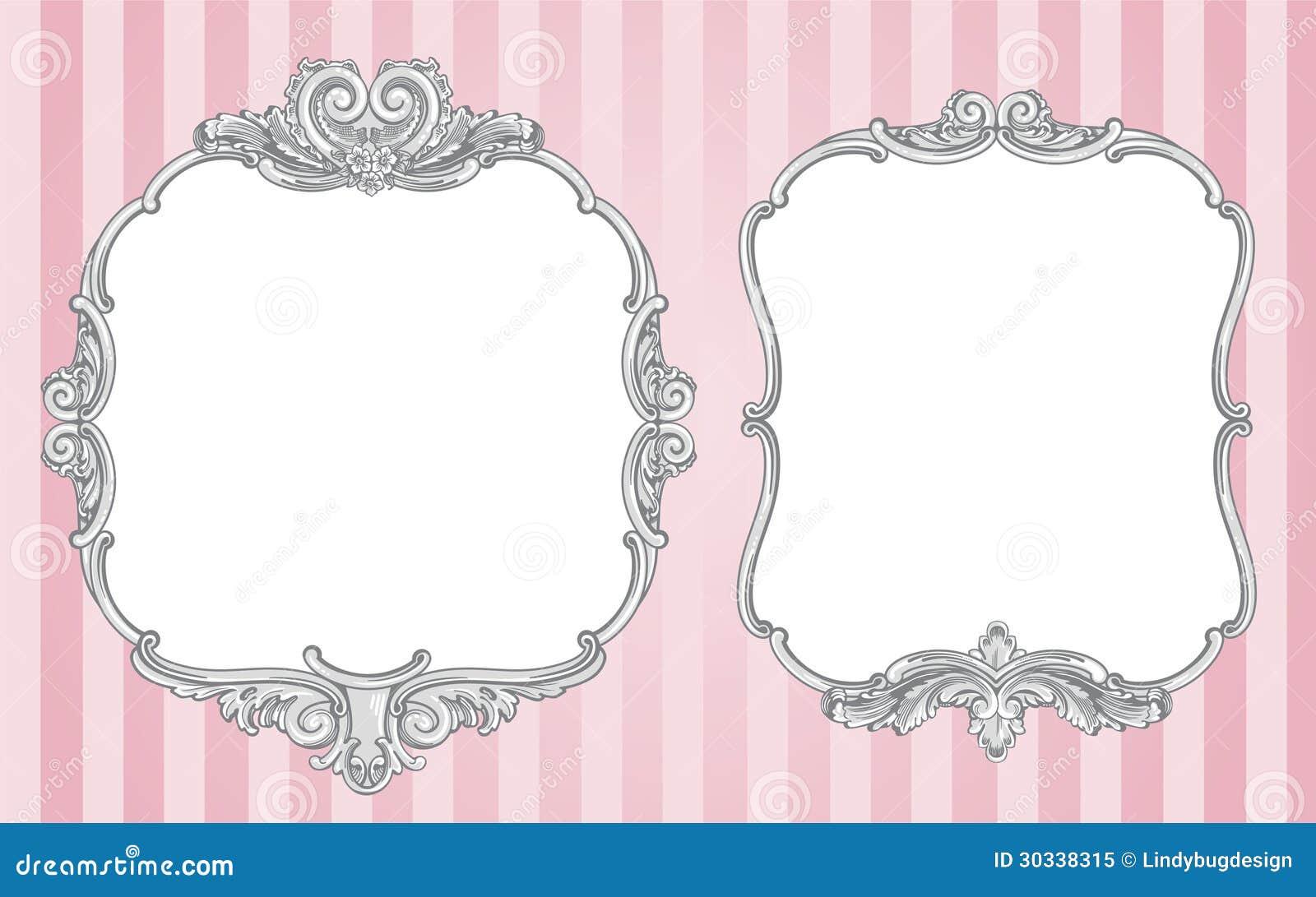Ornate vintage frames stock vector. Illustration of marriage - 30338315