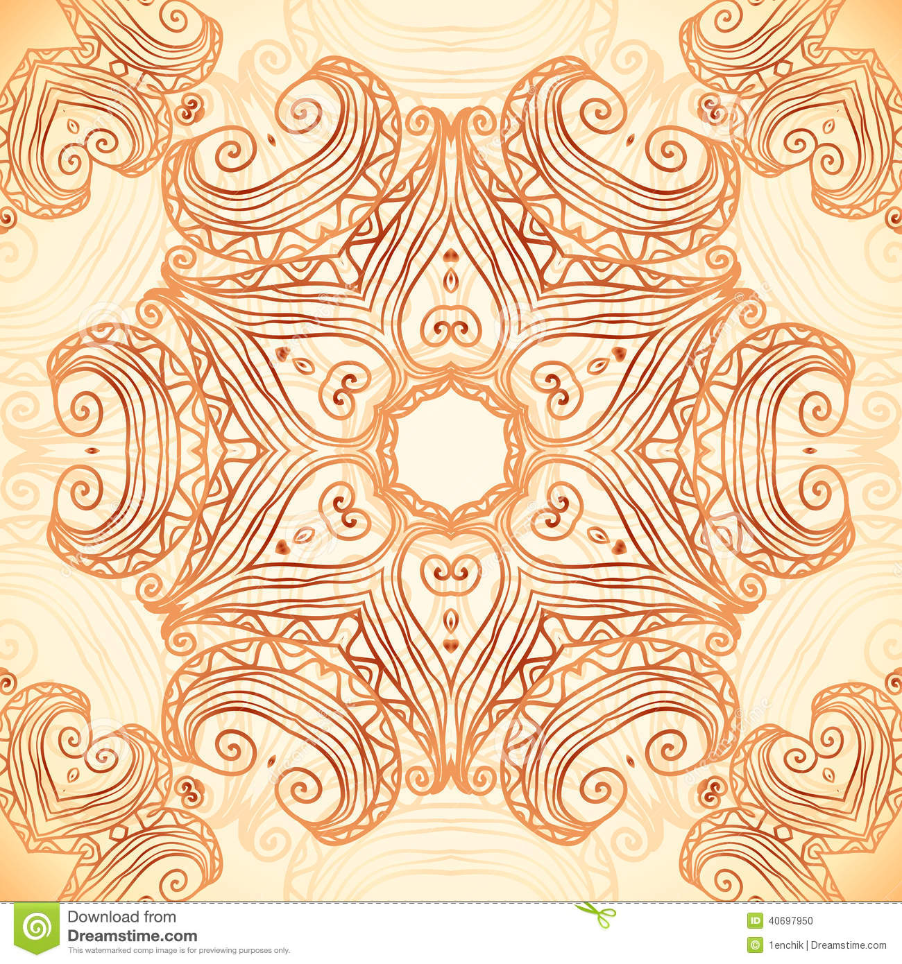 Ornate vintage vector background in mehndi style royalty free stock - Royalty Free Stock Photo Download Ornate Vintage Template In Indian Mehndi Style Stock Vector