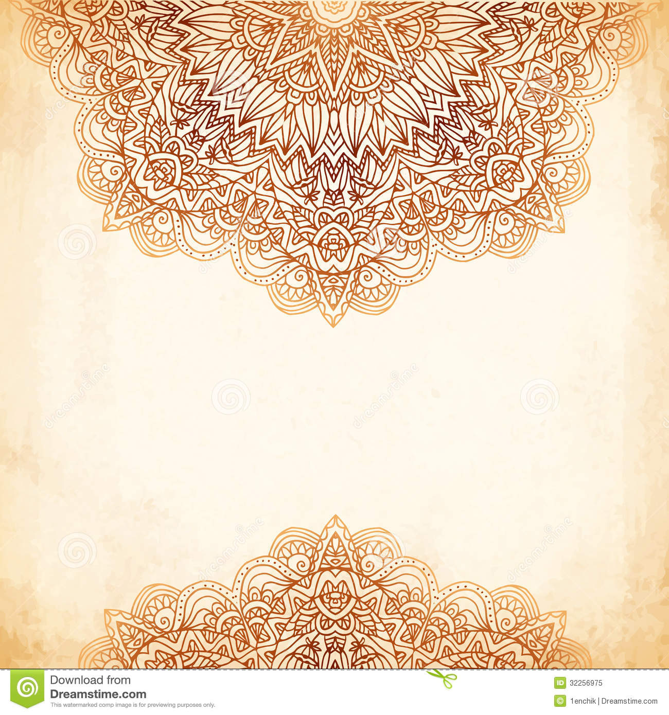 Mehndi Ceremony Background Wallpapers : Ornate vintage vector background in mehndi style stock