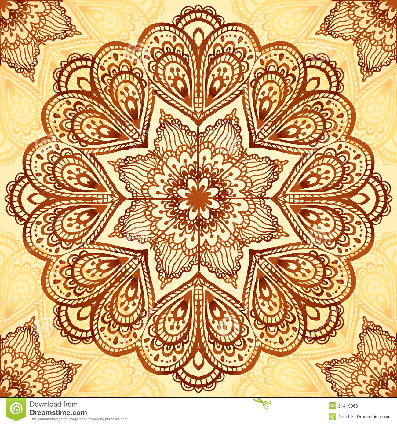 Free ornamental mandala vector download free vector art stock - Ornate Vintage Vector Napkin Background Royalty Free Stock