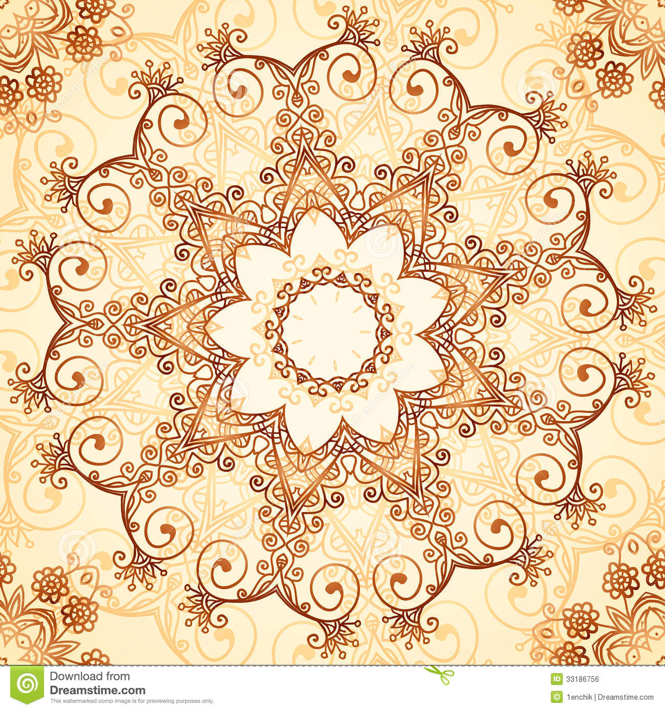Ornate vintage vector background in mehndi style royalty free stock - Royalty Free Stock Photo Download Ornate Vintage Vector Pattern In Mehndi Style