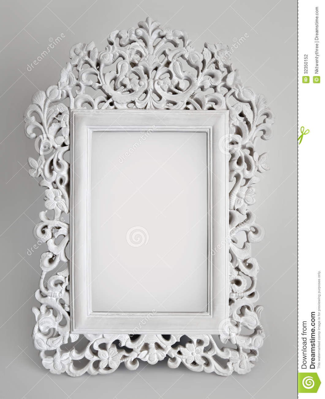 ... vintage inspired white frame with room for your picture or text