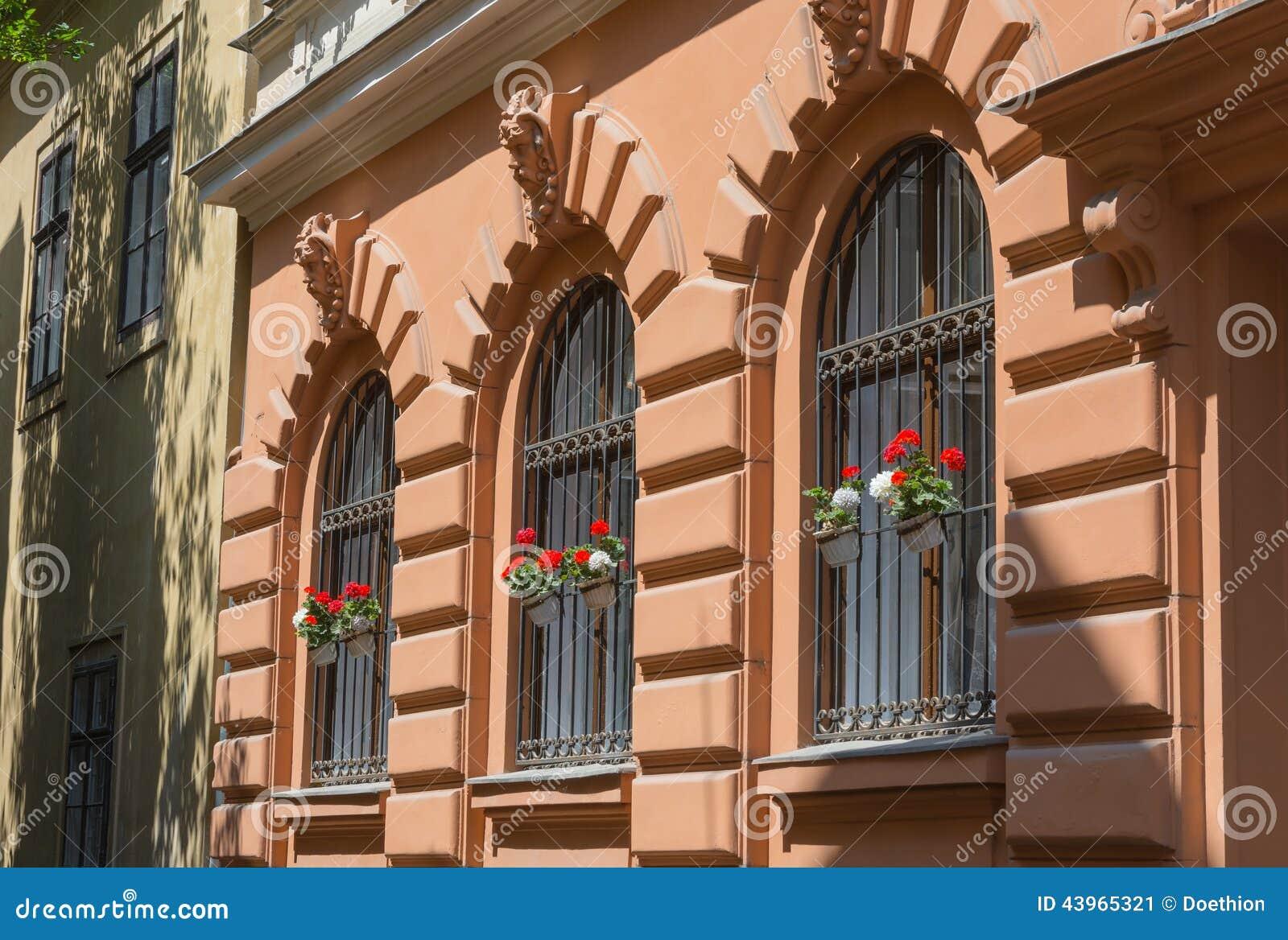Ornate Wrought Iron Window Shutters Stock Photo Image
