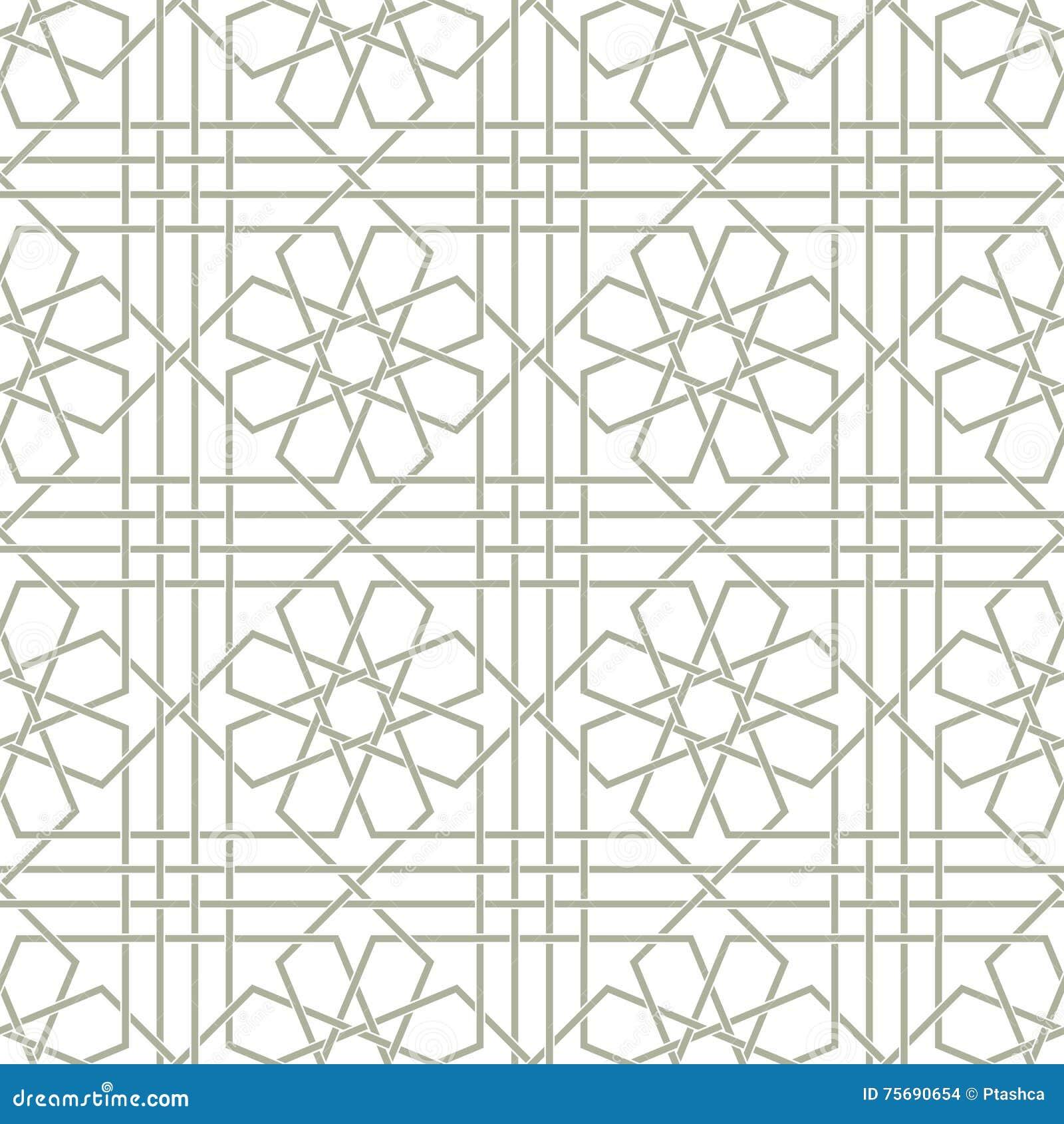 Papier Peint Pour Bureau ornement arabe traditionnel sans couture pour votre