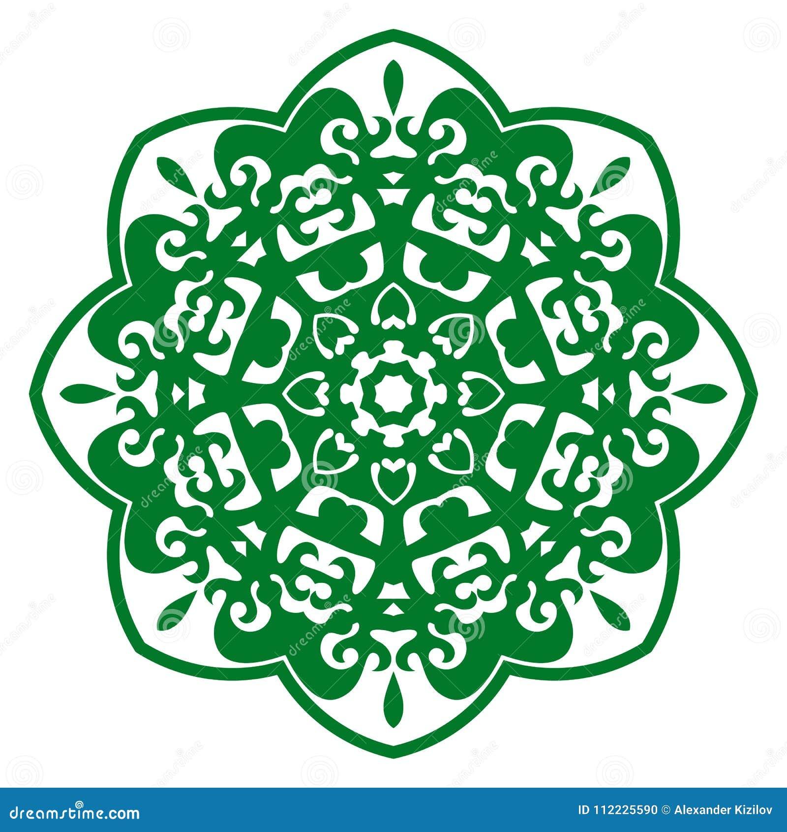 Ornement d illustration de vecteur avec des motifs caucasiens
