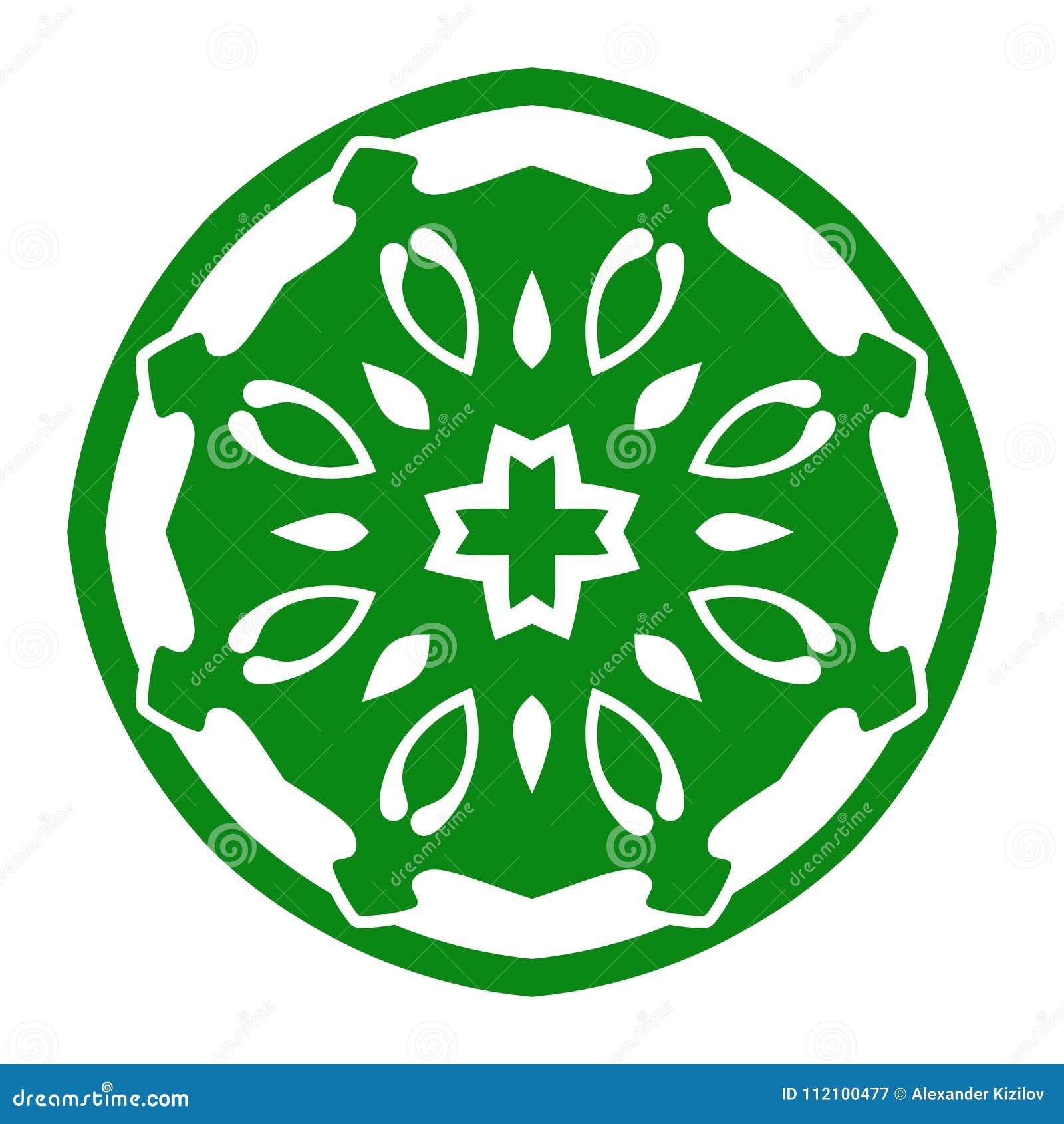 Ornement d illustration de vecteur avec des motifs caucasiens d isolement