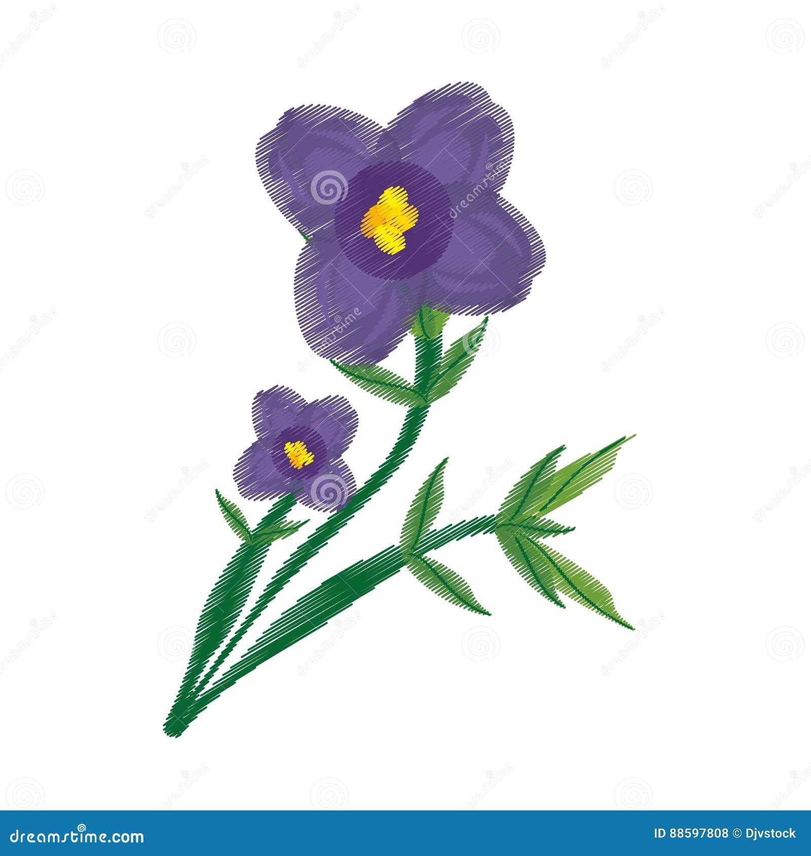 Ornement De Dessin De Fleur De Violette Africaine Illustration Stock