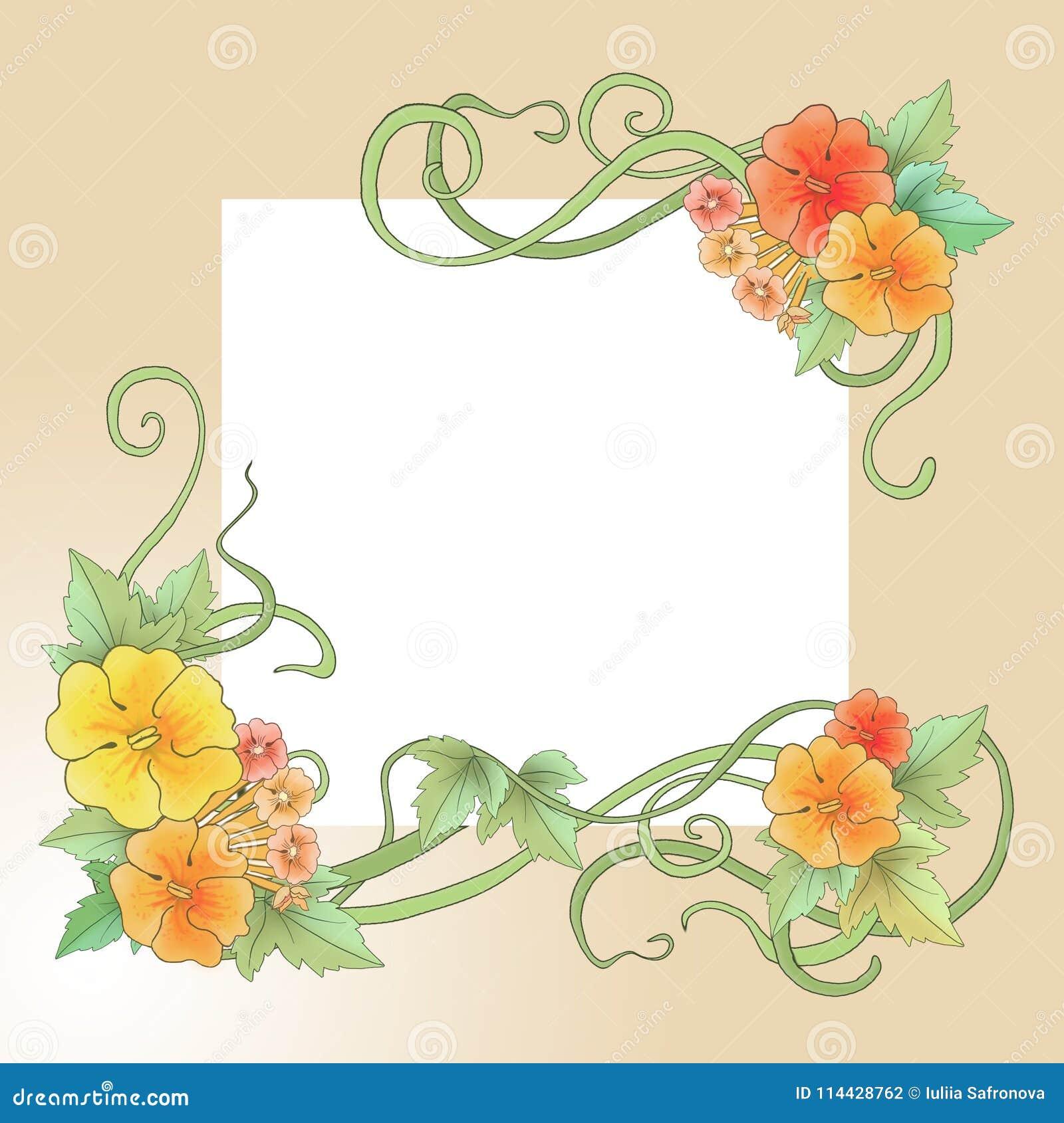 Ornement Floral Dans Le Style D Art Nouveau Motifs De Ressort
