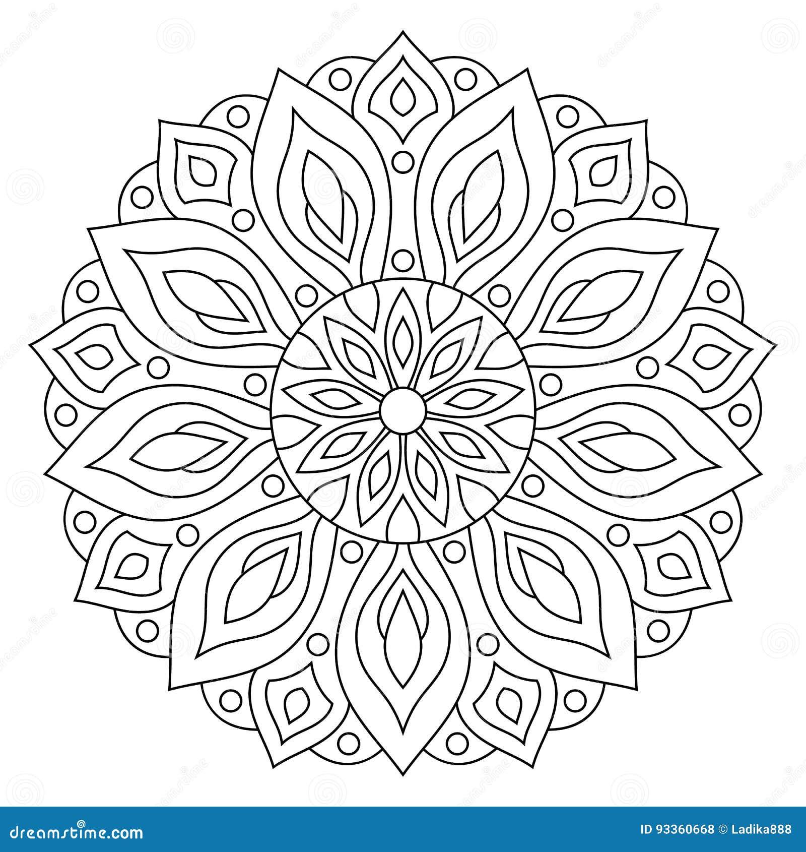Ornement géométrique circulaire Mandala rond d ensemble pour la page de livre de coloriage
