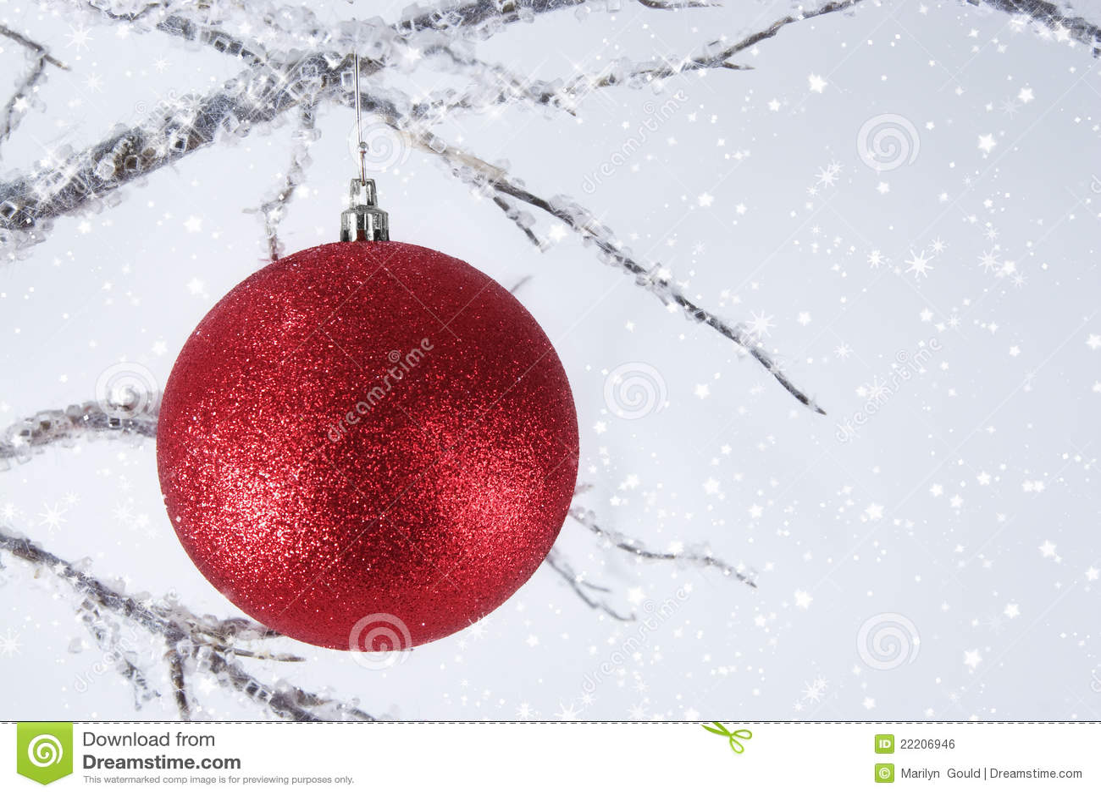 Ornement rouge de Noël