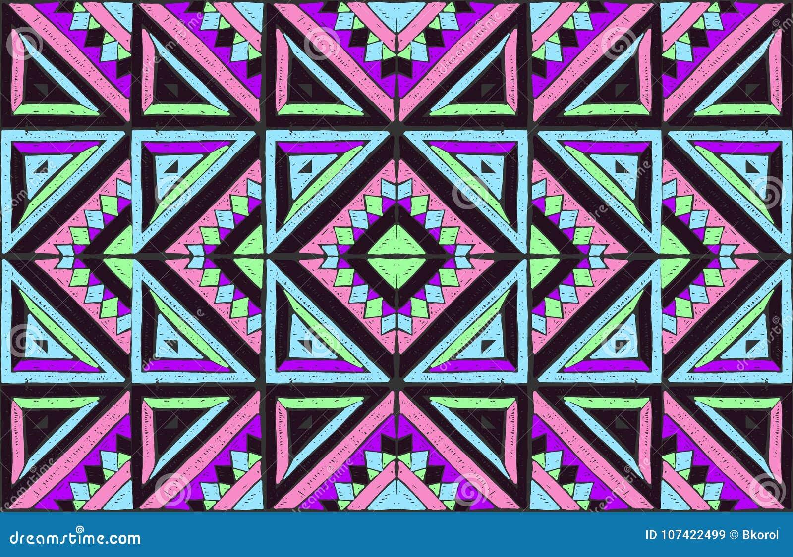 Ornement Tribal De Vecteur Configuration Africaine Sans Joint