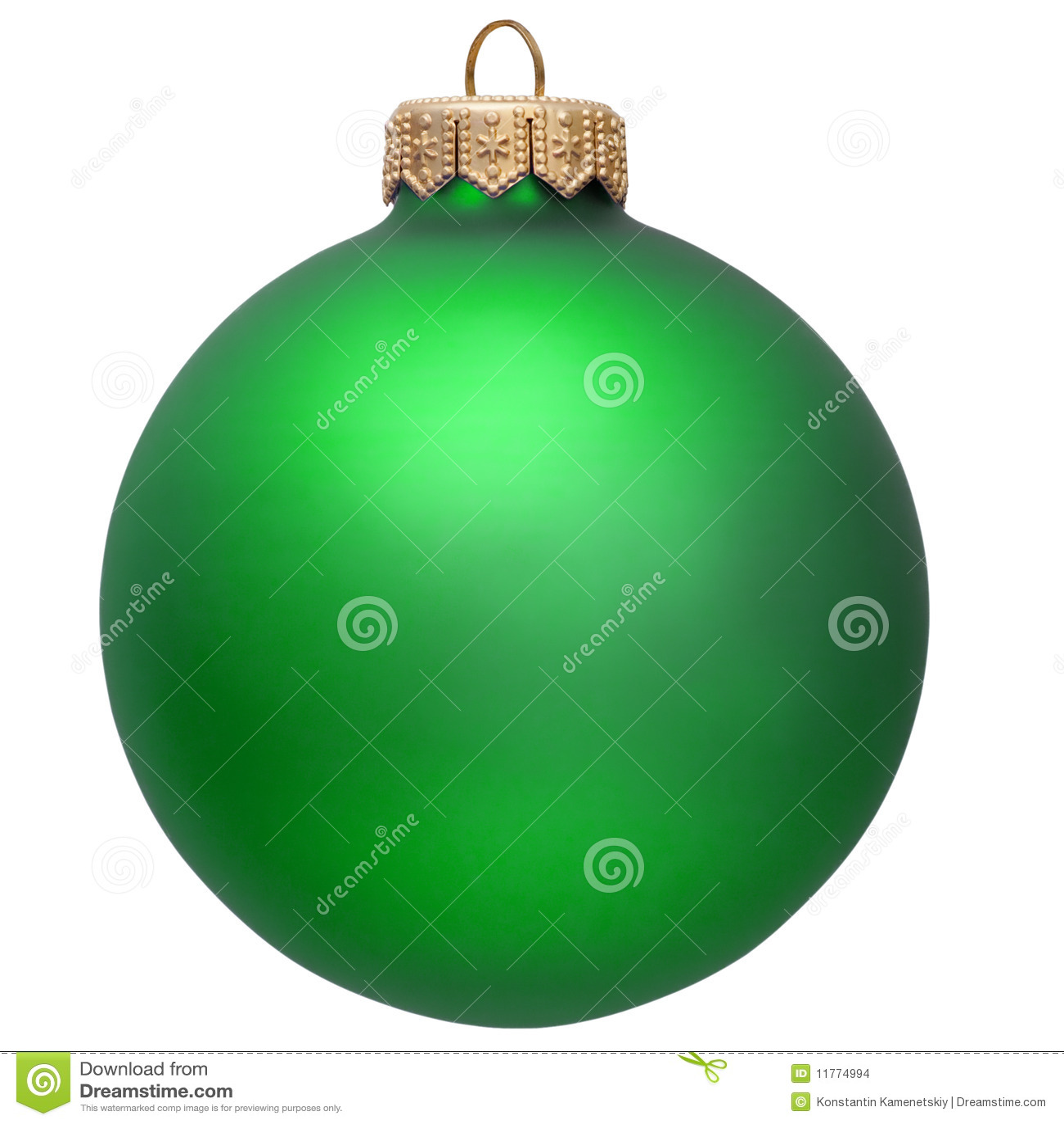 Ornement vert de Noël.
