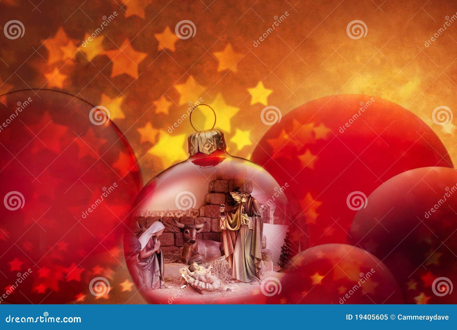 Ornements de scène de nativité de Noël