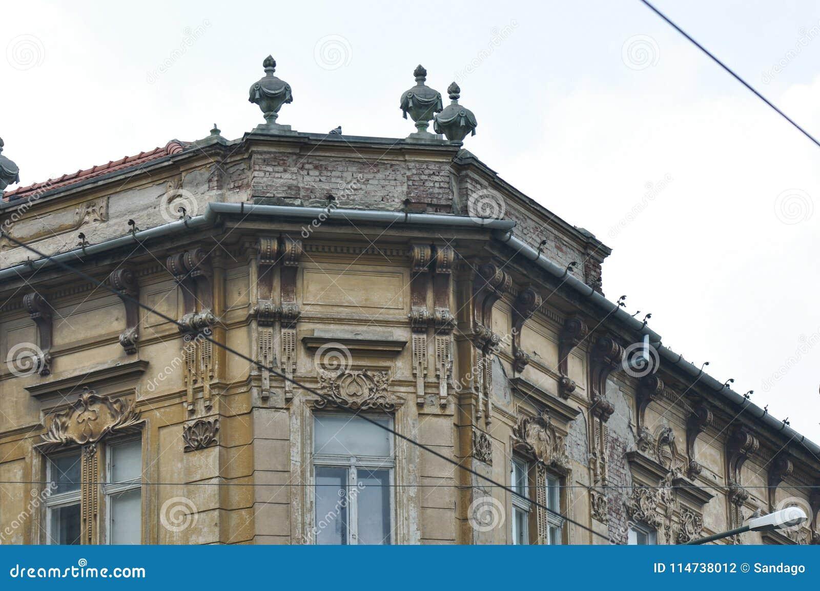 Ornements de vieille maison