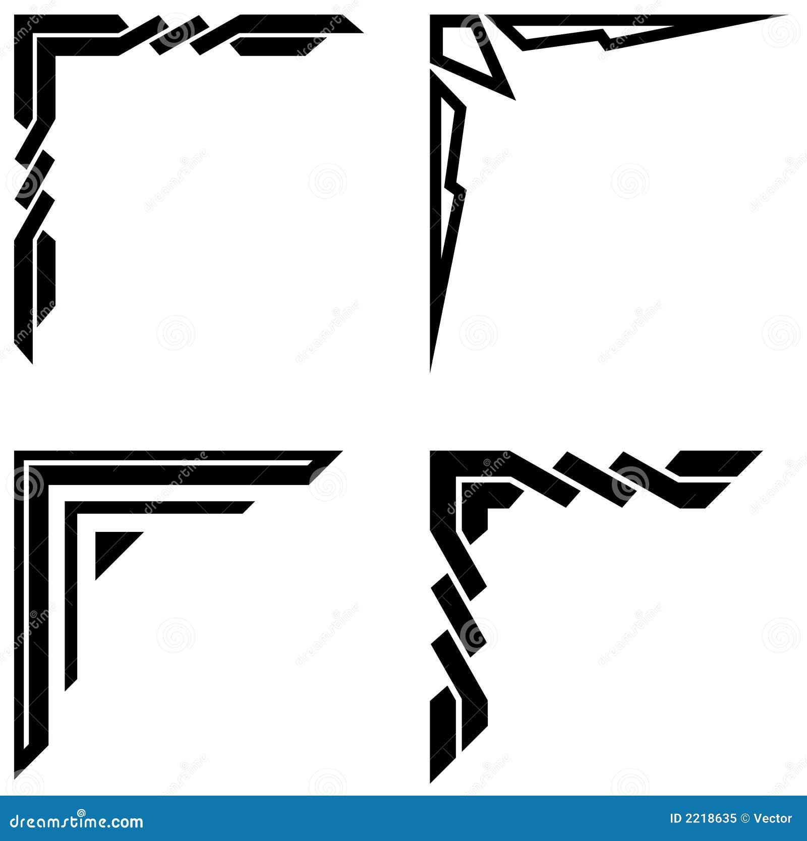 Ornements faisants le coin d coratifs photo libre de for Greche decorative