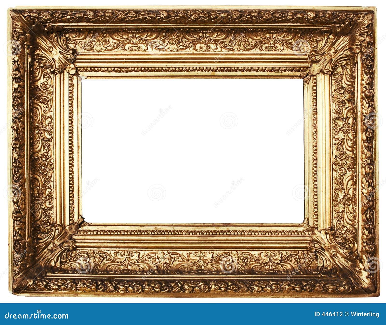 Oro adornado del marco camino incluido foto de archivo - Listones para marcos de cuadros ...