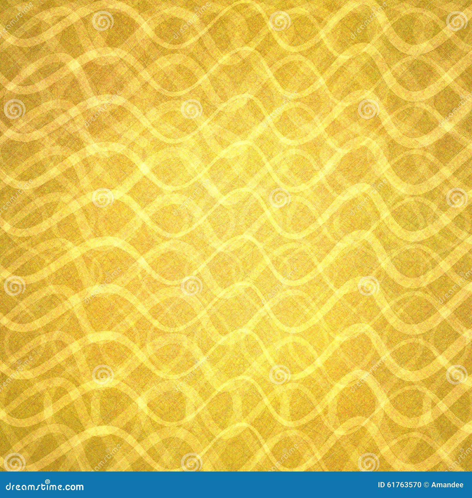 Oro astratto con gli strati ondulati delle linee nel modello astratto, progettazione di lusso del fondo dell oro