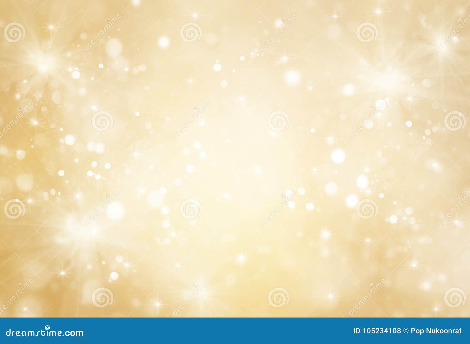 Oro astratto e scintillio luminoso per il fondo del nuovo anno