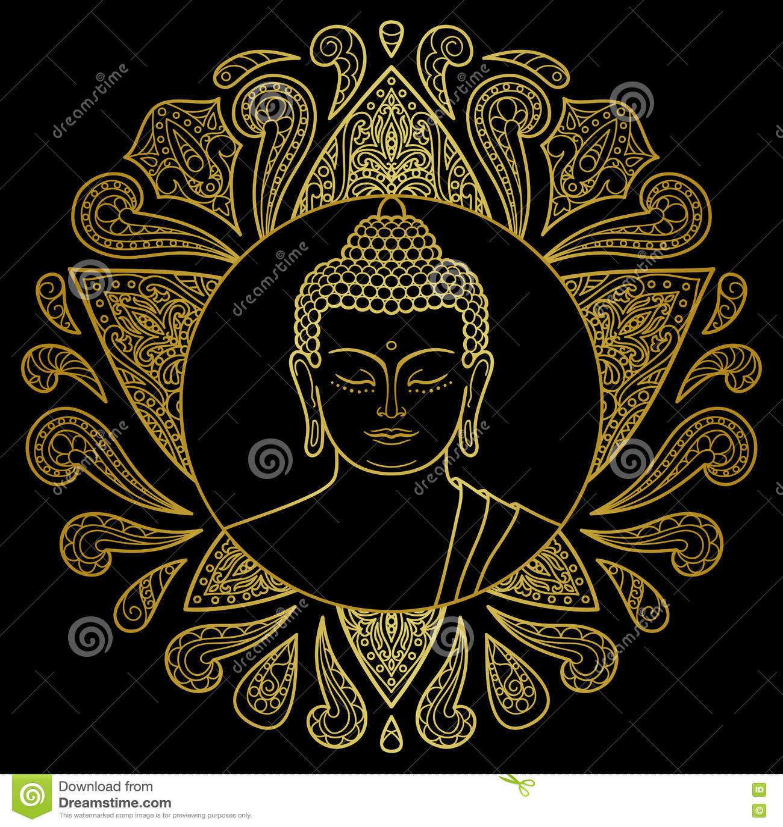 Oro Buda con Lotus