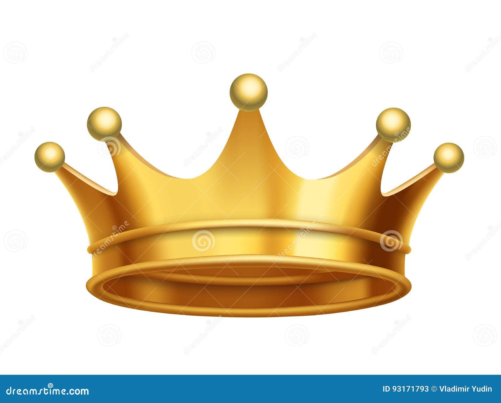 Oro De La Corona Del Rey Del Vector Ilustración Del Vector