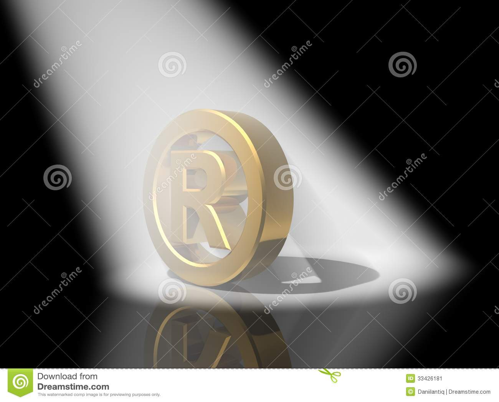 Oro di marchio di fabbrica 3D