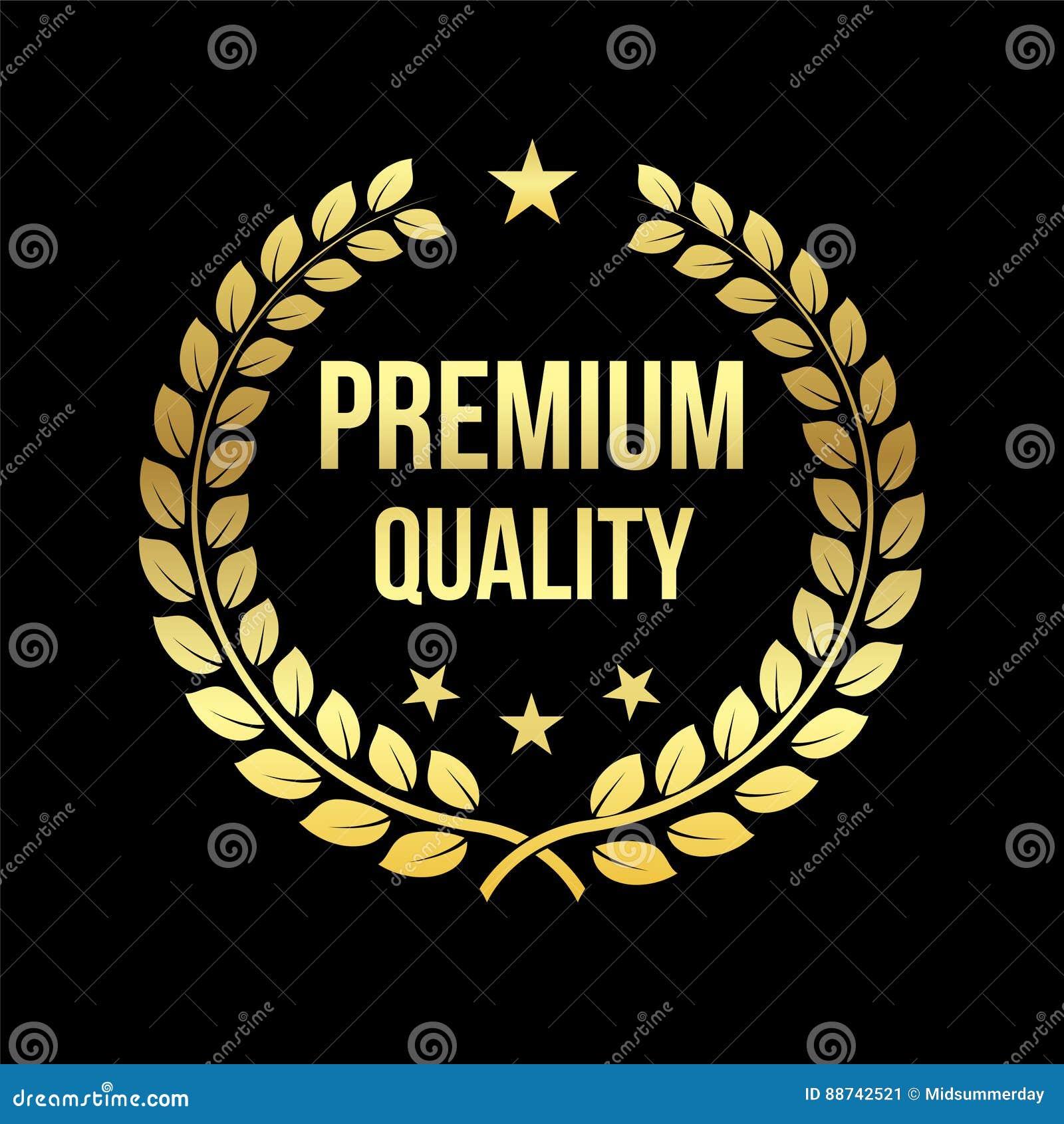 Oro Laurel Wreath Premio premio di qualità Distintivo dorato Elemento di progettazione da vendere, vendente al dettaglio tema Ill