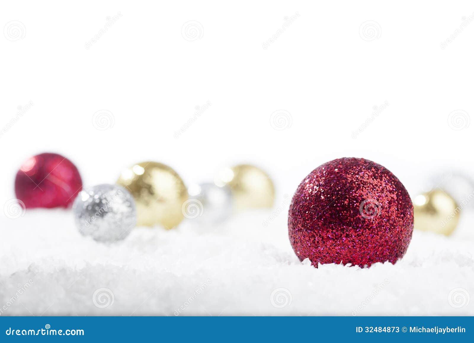 Oro, Rosso E Palle Della Decorazione Di Natale Dell ...