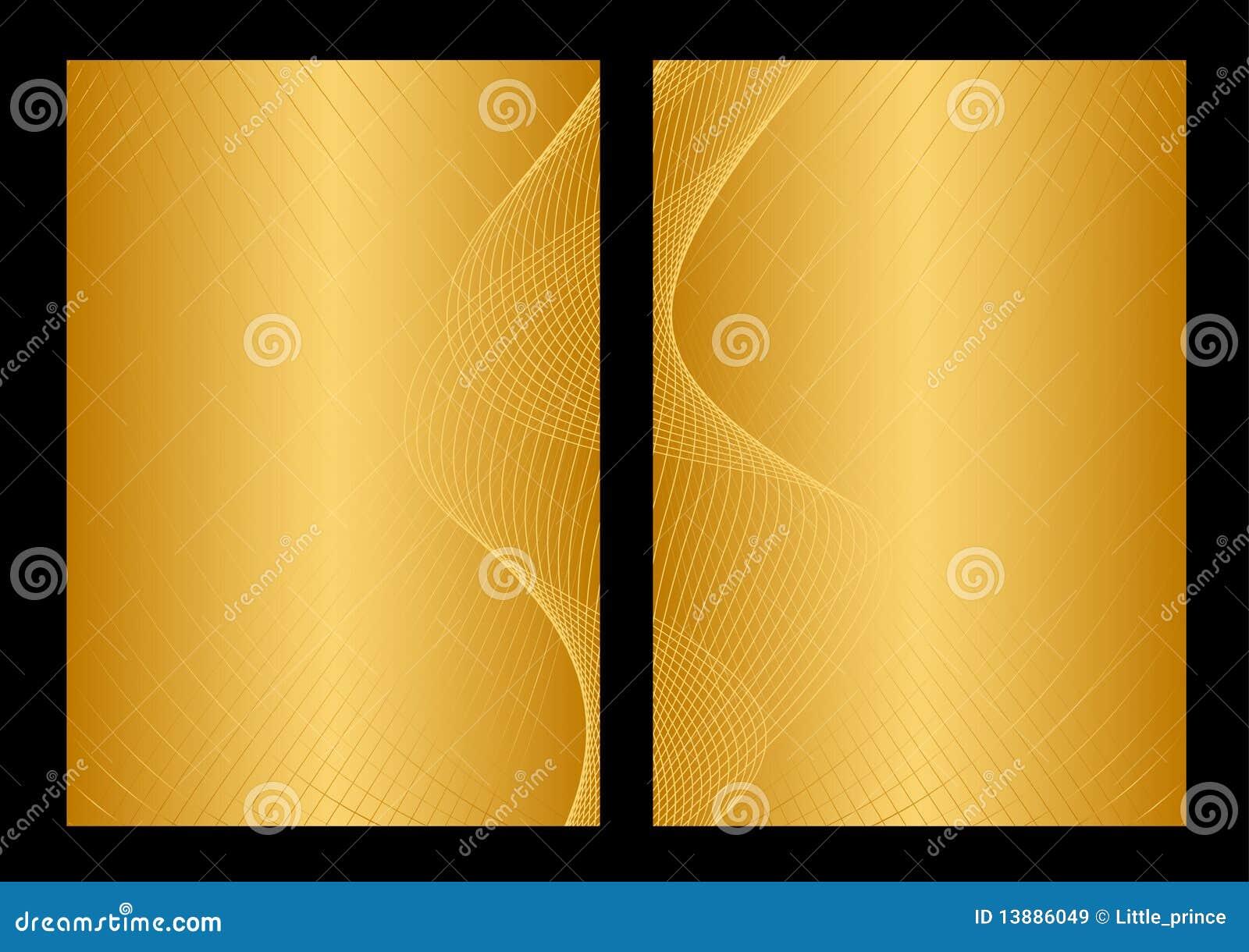 Oro y fondo, frente y parte posterior amarillos