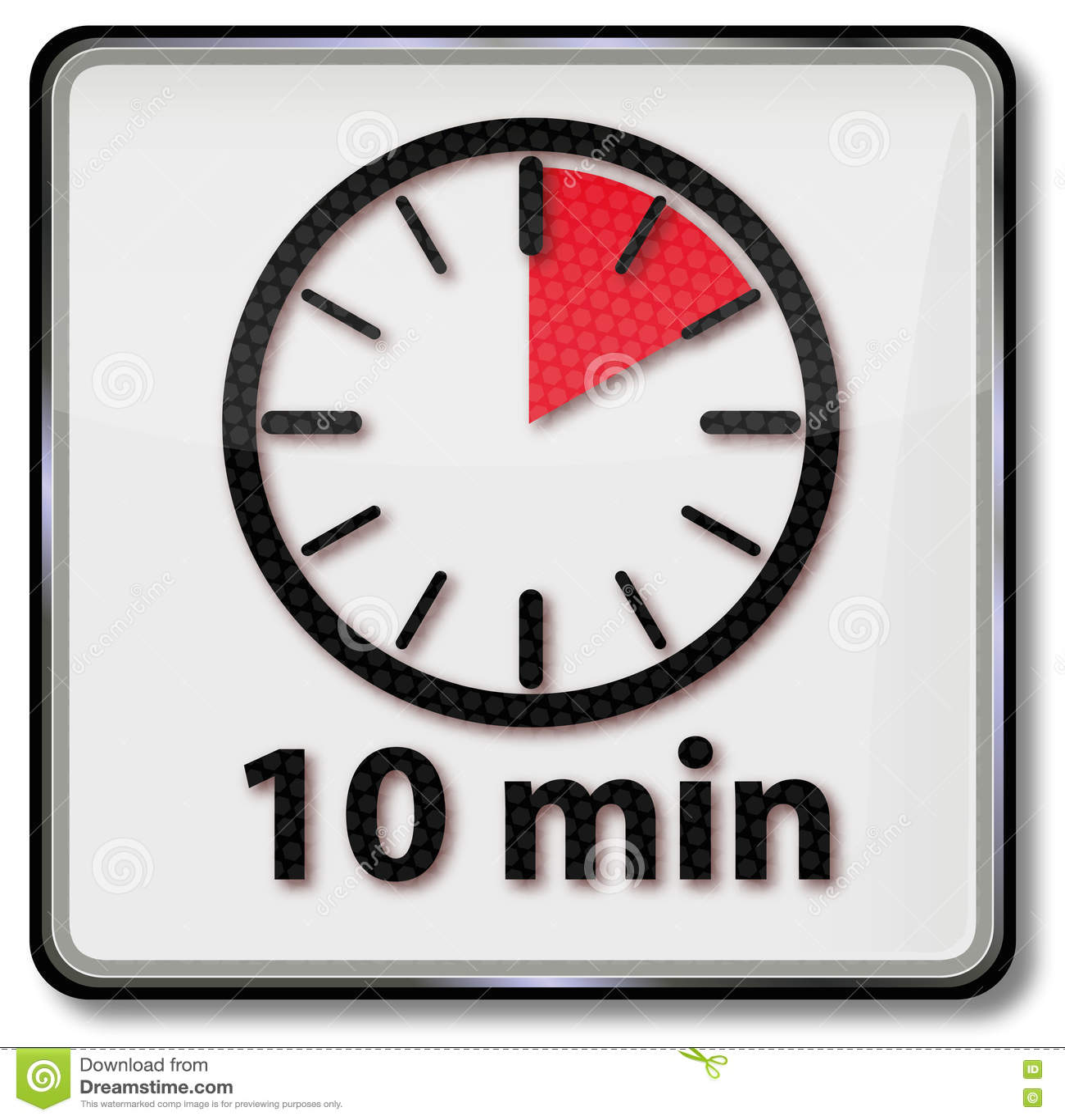 Orologio con 10 minuti illustrazione vettoriale immagine for 10 minuten haarfarbe