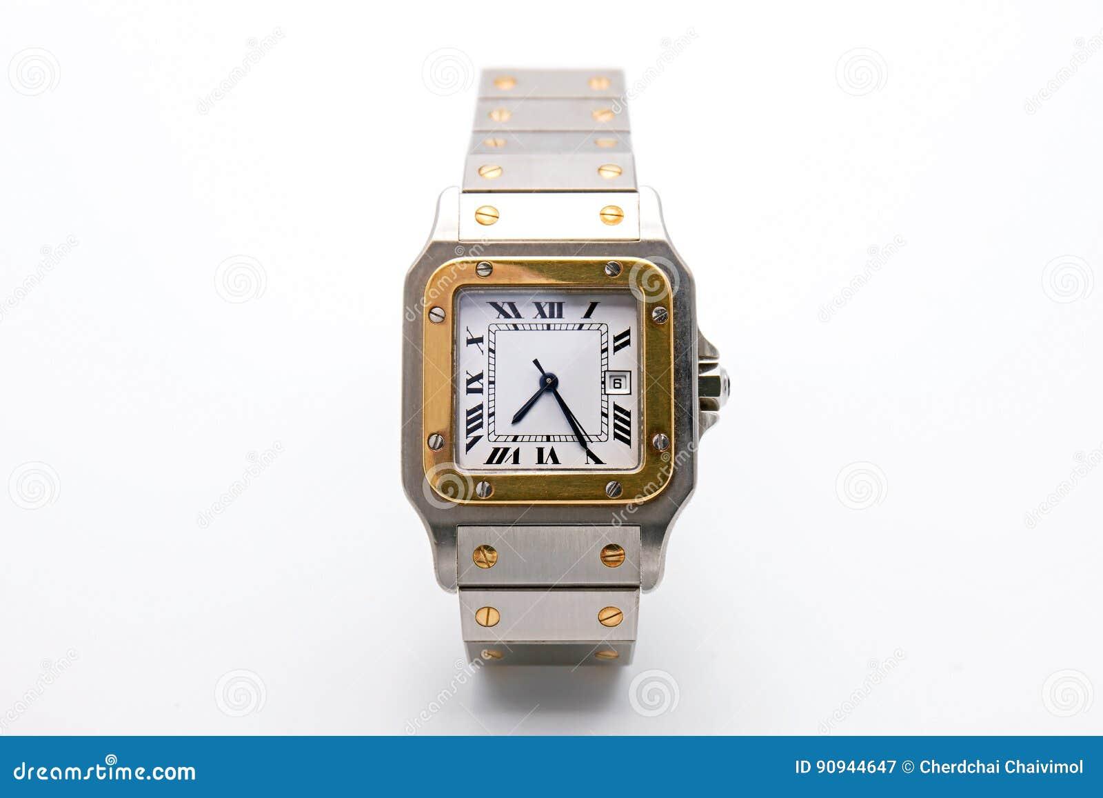 Orologio di lusso su fondo bianco