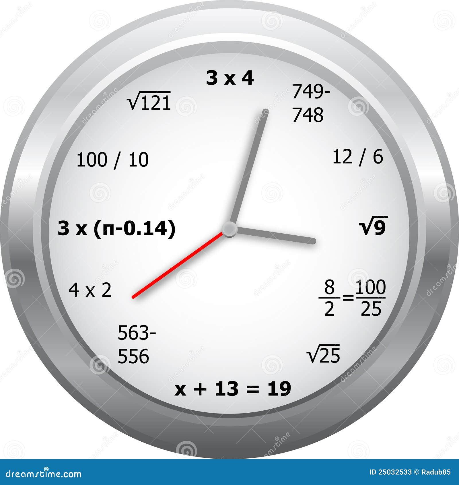 orologio di matematica illustrazione di stock