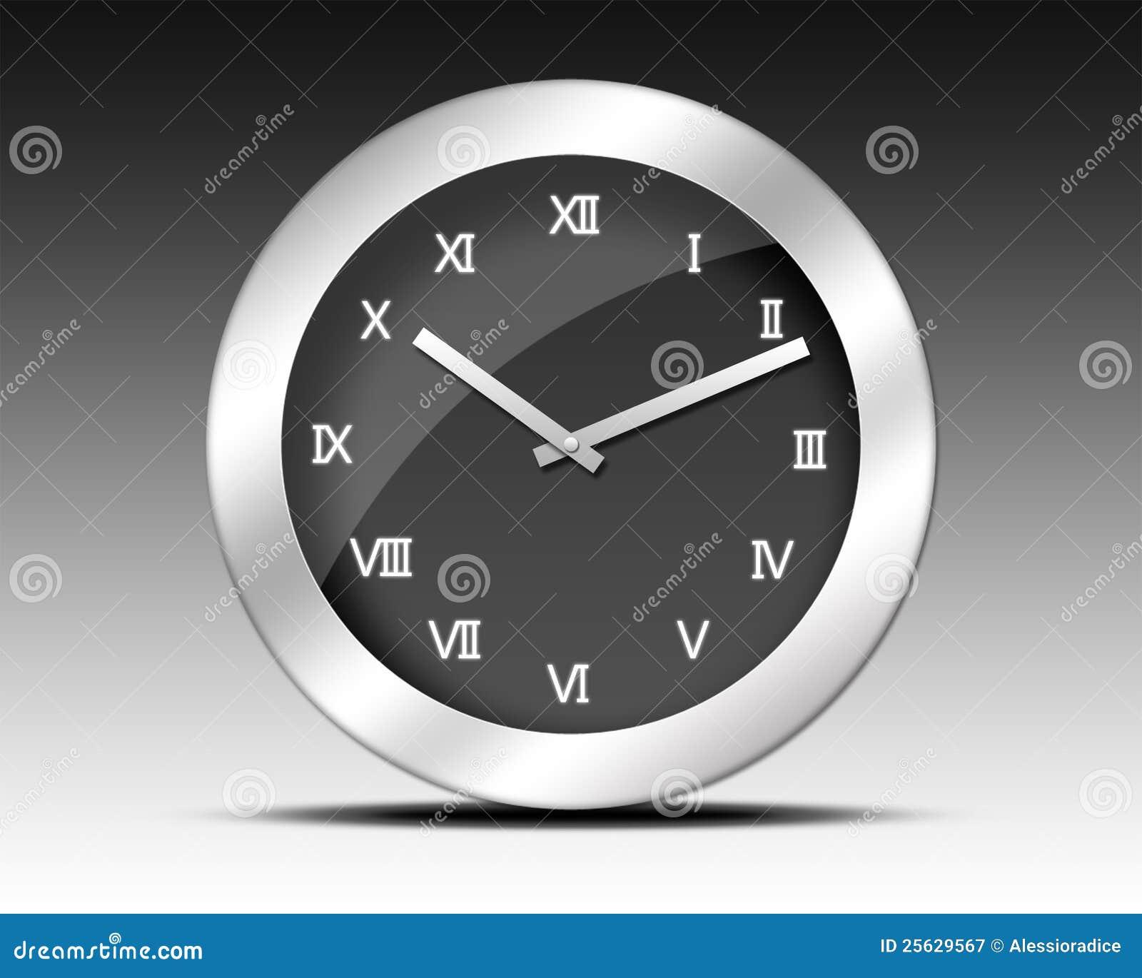 Orologio di numeri romani illustrazione di stock for Orologio numeri romani