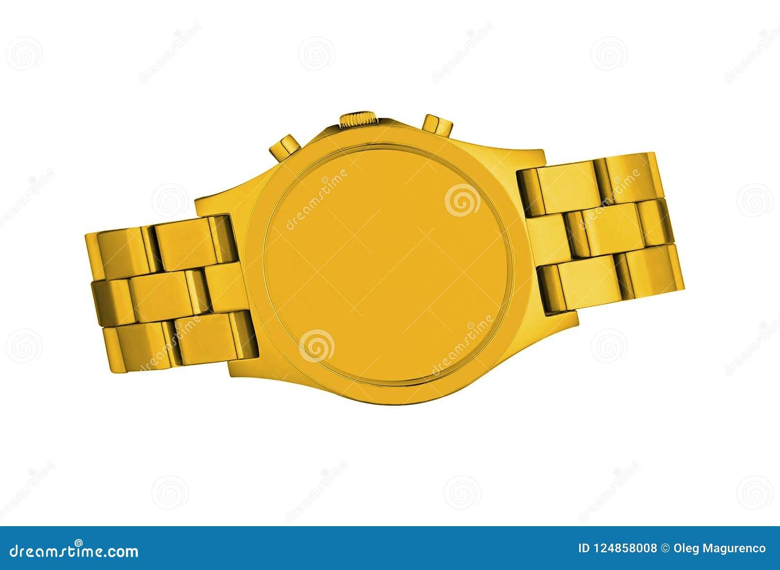 Orologio dorato isolato